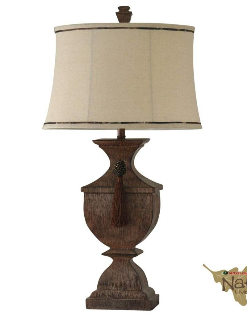 Style Craft Home Collection Mossy Oak Tassle Table Lamp