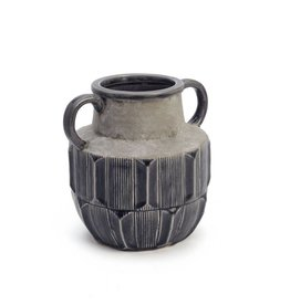"ADV 8"" Dark Grey Stained Vase"