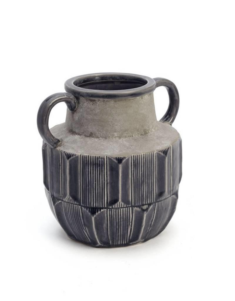 "ADV 8"" Dark Grey Stained Vase"