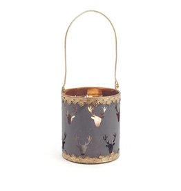 ADV Black & Gold Metal Tealight Holder