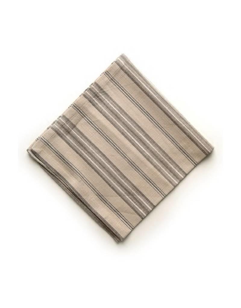 ADV Napkin Set of 4 Beige/White Stripe