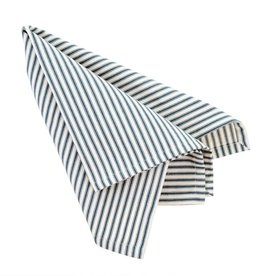 Indaba Navy Ticking Napkins, Set of 4