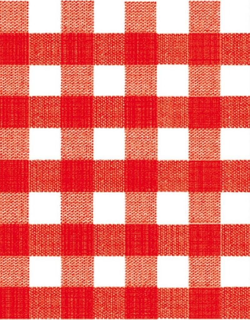 Old Country Design Bistro Red - Paviot Cocktail Napkin