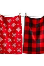 Tag ltd Lodge Snowflake Dishtowel Set of 2