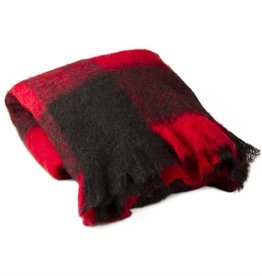 Tag ltd Buffalo Check Mohair Throw