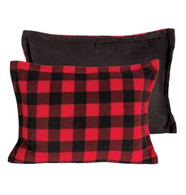 Candym Fleece Red/Black Check Toss, 14x20