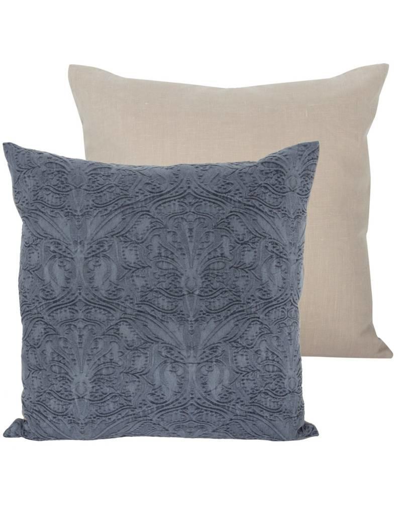 Candym Fossil Blue Denim 22x22 Pillow