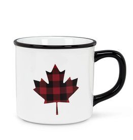 Abbott Plaid Maple Leaf Mug