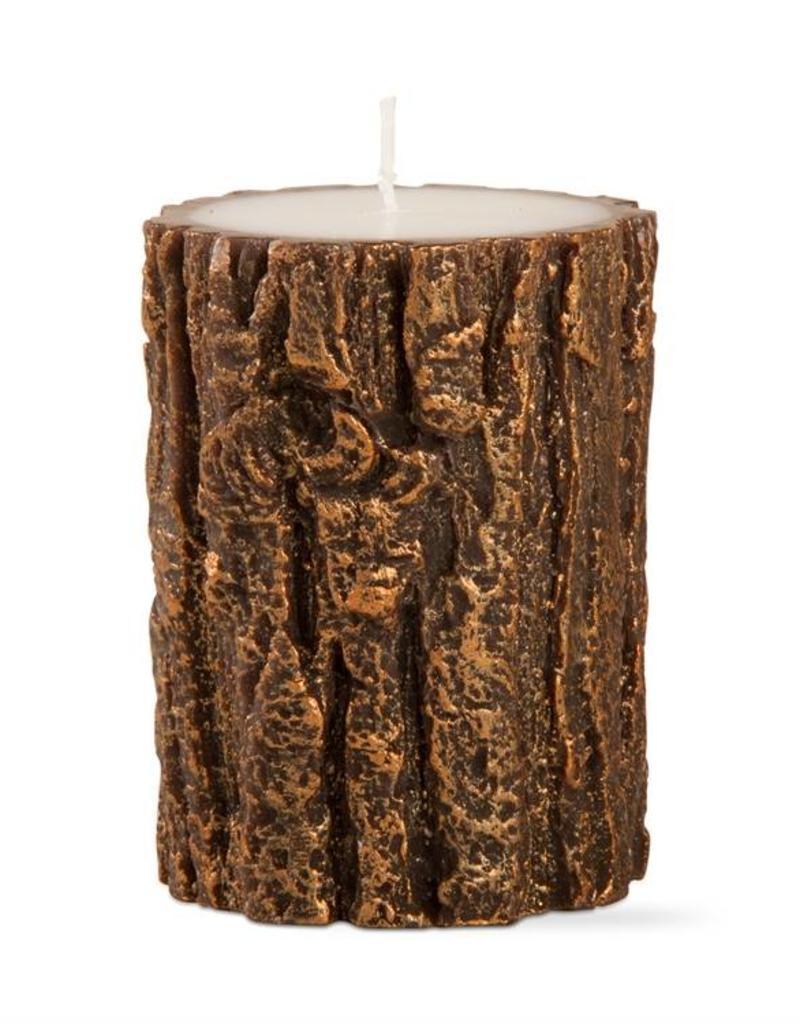 Tag ltd Gilded Tree Bark 3x4 Pillar Antique Copper
