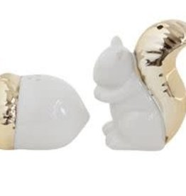 Creative Co-op Squirrel & Acorn Salt & Pepper Set