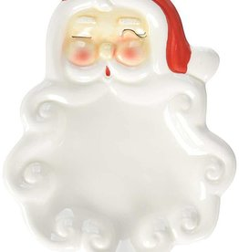 Creative Co-op Ceramic Vintage Santa Dish