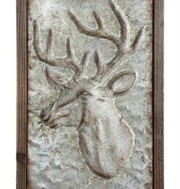 Creative Co-op Embossed Deer Wall Decor
