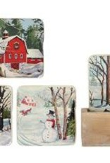 Creative Co-op Paint by Number Coasters Set of 5