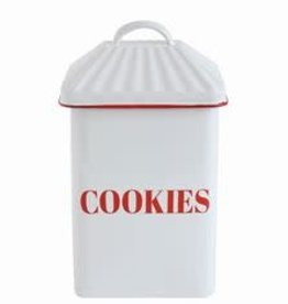 Creative Co-op Enameled Cookies Canister