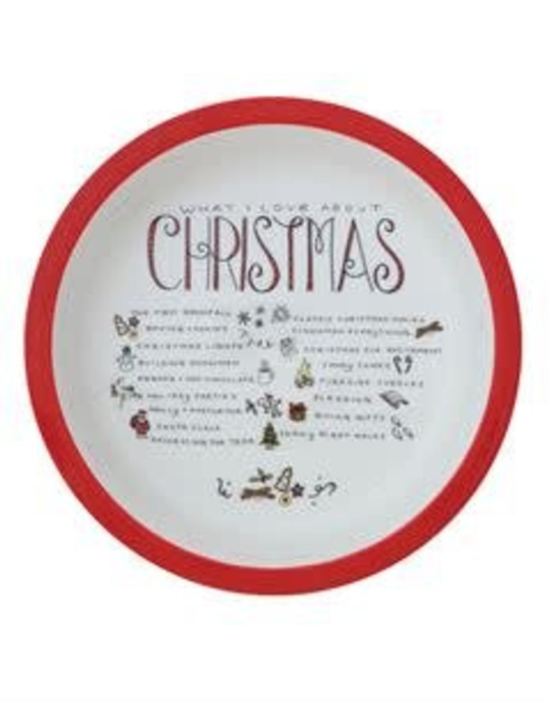 Creative Co-op 'What I Love About Christmas' Baking Dish