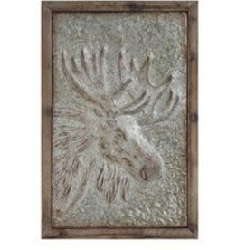 Creative Co-op Embossed Moose Wall Decor