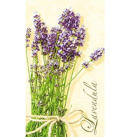 Paper Products Design Lavendula Cream Guest Napkin