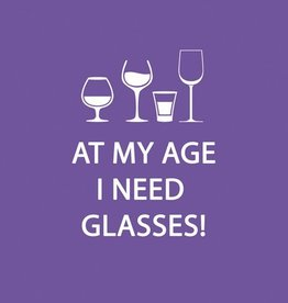 Paper Products Design Glasses Beverage Napkin