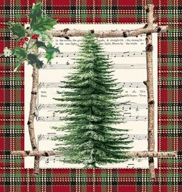 Paper Products Design Chalet Tree, Beverage Napkin