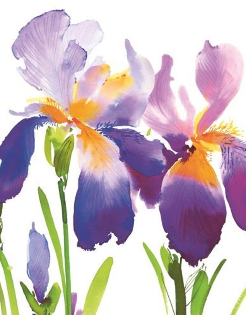 Paper Products Design Purple Iris Lunch Serviette