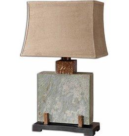 Uttermost Slate Square Lamp