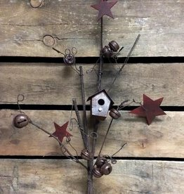 Tri W Imports Metal Bell and House Sprig