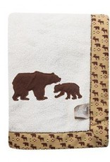 Trend Labs Northwoods Bear Framed Fleece Baby Blanket