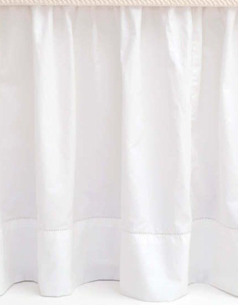 Pine Cone Hill Classic Hemstitch White Bed Skirt Queen