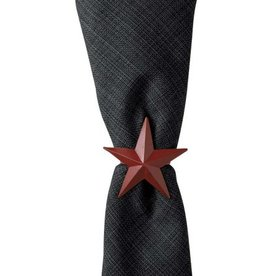 Park Design Red Metal Star Napkin Rings