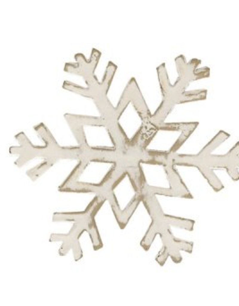 Park Design Snowflake Napkin Ring White