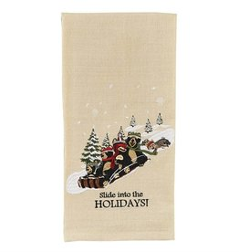 Park Design Slide into the Holidays Dishtowel