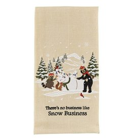 Park Design Snow Business Dishtowel