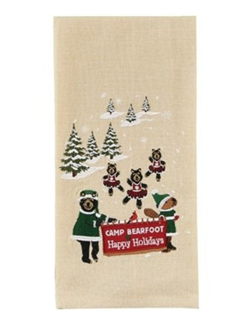 Park Design Camp Bearfoot Happy Holidays Dishtowel