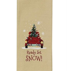Park Design Ready Set Snow Dishtowel