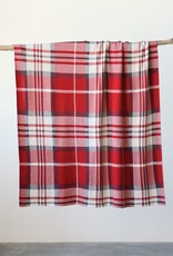 Creative Co-op Cotton Knit Plaid Throw