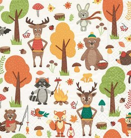 Old Country Design Woodland Animal Luncheon Serviettes