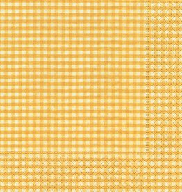 Old Country Design Vichy Yellow Luncheon Serviette