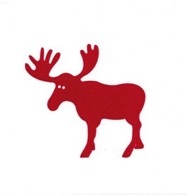 Old Country Design Moose Red Paviot Dinner Serviette