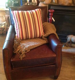 CR Laine Deville Chair- Java Finish - Leather