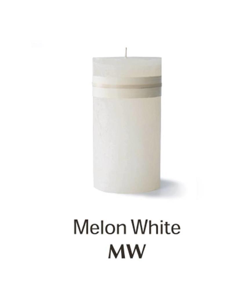 Vance Kitira Timber Candle, 4x8, Melon White
