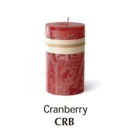 Vance Kitira Timber Candle, 3.25x3, Cranberry