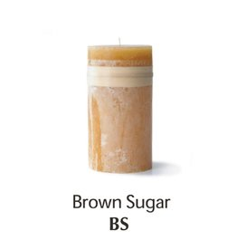 Vance Kitira Timber Candle, 3.25x6, Brown Sugar