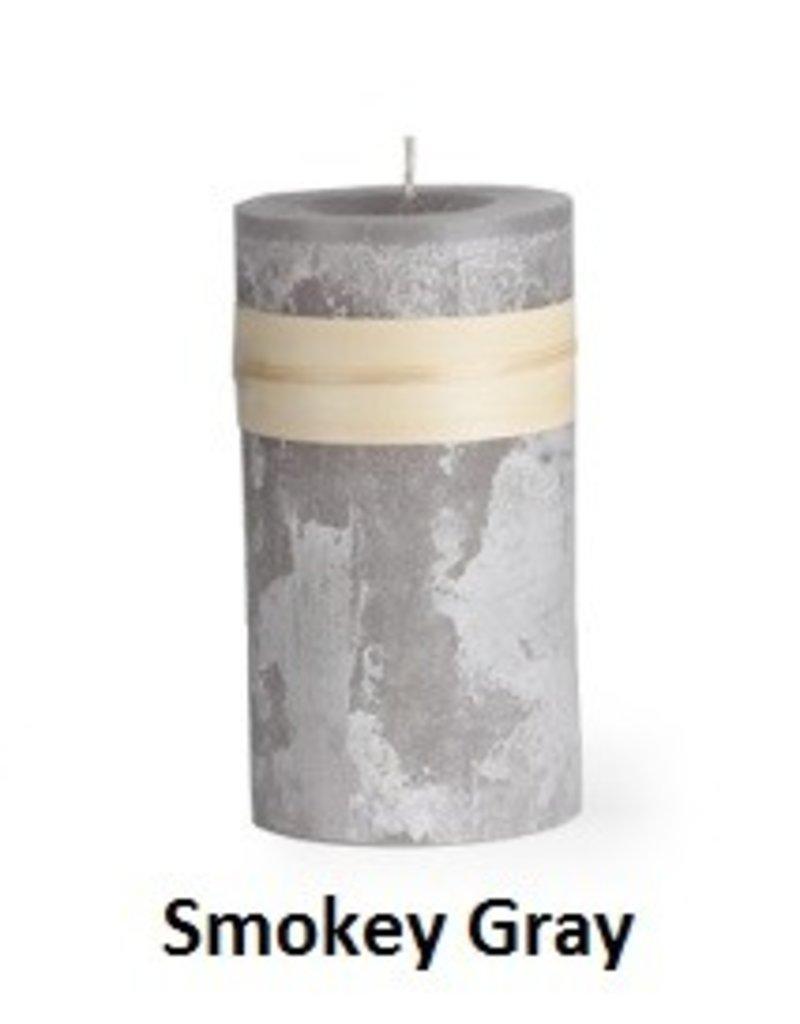 Vance Kitira Timber Candle, 3.25x6, Smoky Grey