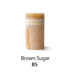Vance Kitira Timber Candle, 4x8, Brown Sugar