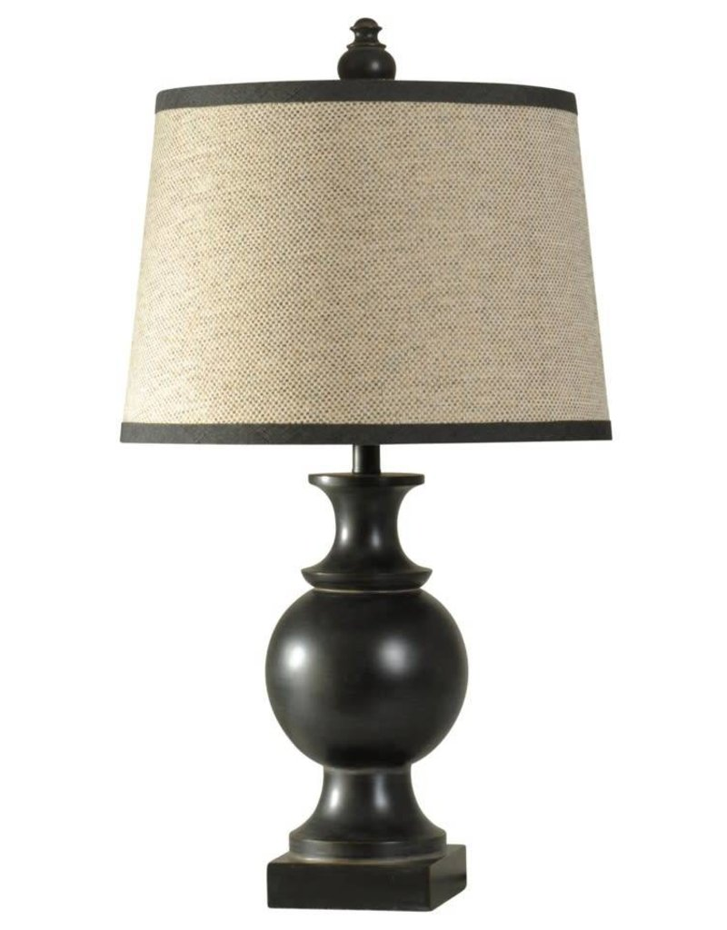 Style Craft Home Collection Traditional Black Table Lamp
