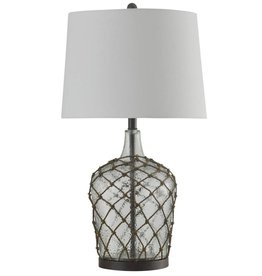 Style Craft Home Collection Cayos Clear Meshed Glass Table Lamp