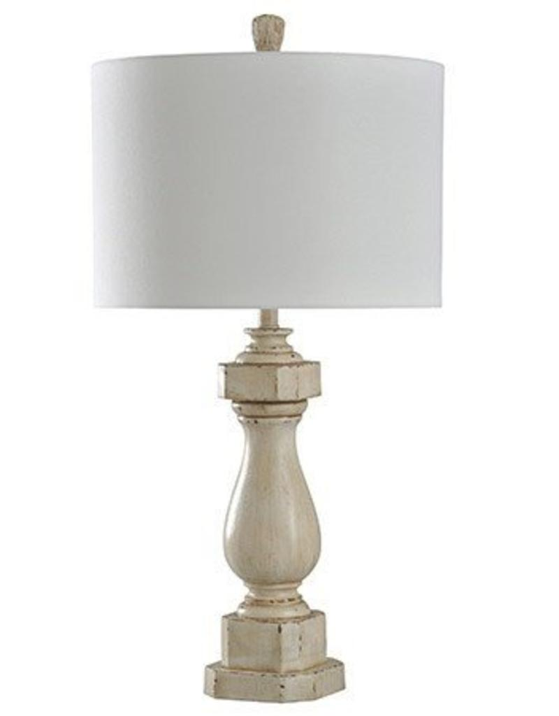 Attractive Style Craft Home Collection Old Cream Distressed Table Lamp