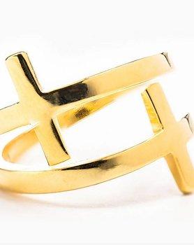 My Saint My Hero My Saint My Hero Pillar of Faith Ring-Gold Sz 7 RG2-G-7