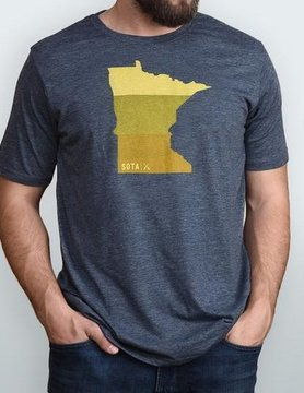 Sota Clothing Sota Fergus Falls T-Shirt Denim/Orange Ombre
