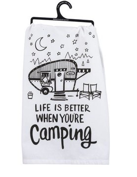 PRIMITIVES BY KATHY Primitives by Kathy Dish Towel- Better Camping 35521